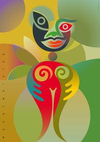 Formen, Kreisformen, Farben, Erdfarben
