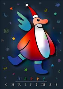 Nacht, Weihnachten, Grafik, Farben