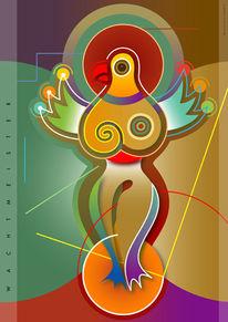 Farben, Wonderbird, Farbdruck, Farbverlauf