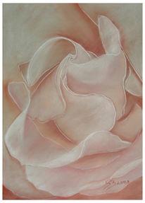 Zerbrechlich, Rose, Pastellmalerei, Blumen