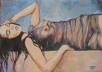 Figural, Mädchen, Frau, Erotik