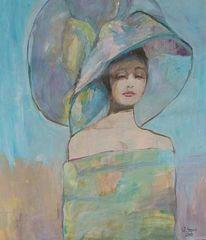 Mädchen, Frau, Malerei, Figural