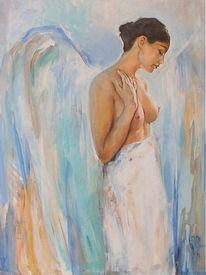 Engel, Akt, Malerei, Engel frau akt