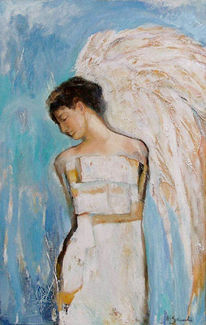 Malerei, Figural, Figurativ, Engel
