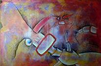 Abstrakt, Malerei, Angst