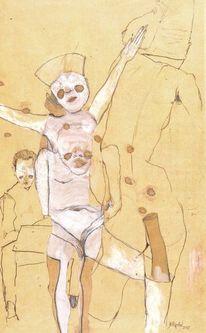 Voyeur, Menschen, Malerei