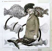 Fisch, Meerjungfrau, Nixe, Malerei