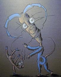 Zeichnung, Surreal, Zeichnungen, Tanz