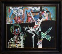 Kirche, Kreuz, Insekten, Malerei