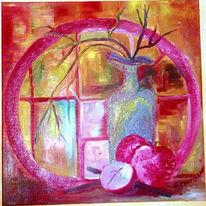 Stillleben, Kunstglas, Lichtspiel, Malerei