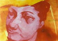Malerei, Figural, Frau, Menschen