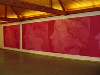 Rot, Figural, Frau, Malerei