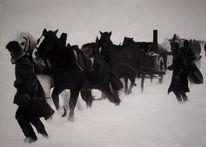 Schnee, Figural, Winter, Flucht
