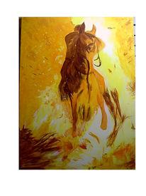 Pferde, Feuer, Reiter, Figural