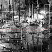 Quadrat, Spiegelung, Rot, Linie