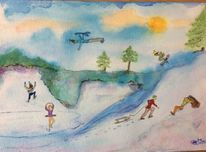 Schnee, Eis, Menschen, Winterfreuden