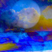 Erde, Mond, Wolken, Himmel
