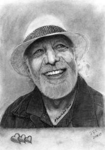 Kohlezeichnung, Portrait, Freiheit, Menschen
