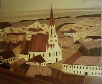 Einlegebilder, Kunsthandwerk, Marketerie, Holz