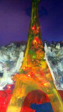 Malerei, Chat, Klischee, Frankreich
