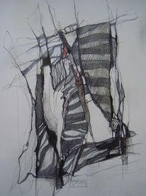 Zeichnung, Skizze, Abstrakt, Abstrakte kunst