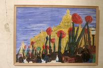 Blumen, Krieg, Malerei, Figural