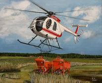 Malerei, Fliegen, Hubschrauber, Arbeit