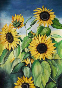 Acrylmalerei malerei sonnenblumen 99 bilder und ideen - Acrylmalerei ideen ...
