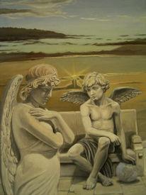 Figural, Malerei, Engel, Gefahr