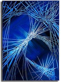 Verbindung, Abstrakt, Geflecht, Blau
