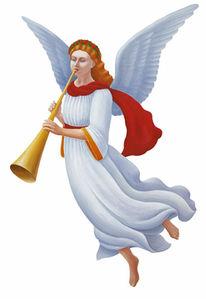 Malerei, Figural, Trompete, Engel