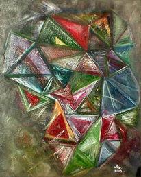 Abstrakt, Malerei, Mac, Kaleidoskop