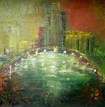 Abstrakt, Malerei, Mac, Stadt