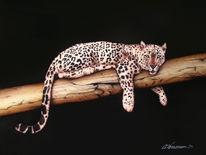 Malerei, Leopard,