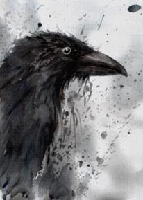 Malerei, Skizze, Vogel, Natur