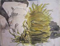 Zeichnung, Portrait, Zeichnungen, Gruß