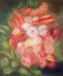 Blumen, Bunt, Stillleben, Malerei