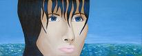 Blau, Figural, Wasser, Malerei