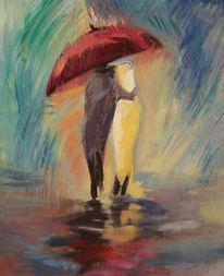 Malerei, Regenschirm
