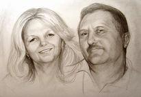 Zeichnung, Portrait, Zeichnungen, Eltern