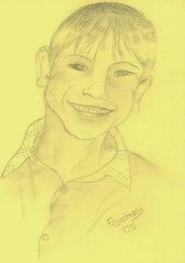 Lachen, Zeichnung, Kind, Portrait