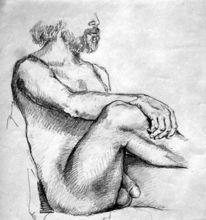 Akt mann menschen, Zeichnung, Mann, Akt