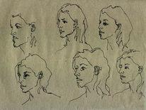Zeichnen, Portrait, Zeichnung, Skizze