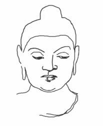 Zeichnung, Skizze, Buddha, Zeichnungen