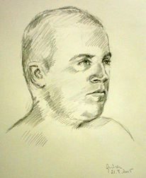 Zeichnung, Portraitzeichnung, Skizze, Zeichnungen