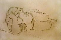 Mann, Akt, Zeichnung, Zeichnungen