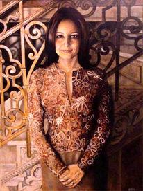Figural, Frau, Portrait, Malerei