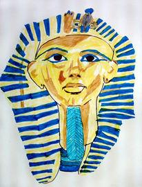 Kinder, Amun, Kinderzeichnung, Pharao