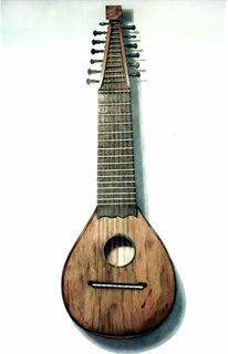 Vihuela, Malerei, Stillleben, Musikinstrument