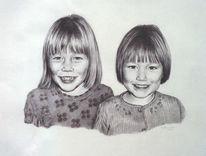 Zeichnung, Kinderportrait, Portrait, Zeichnungen